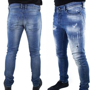 Diesel | Tepphar Heavily Distressed Skinny Jeans